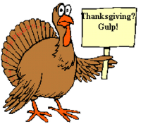 Turkey with sign